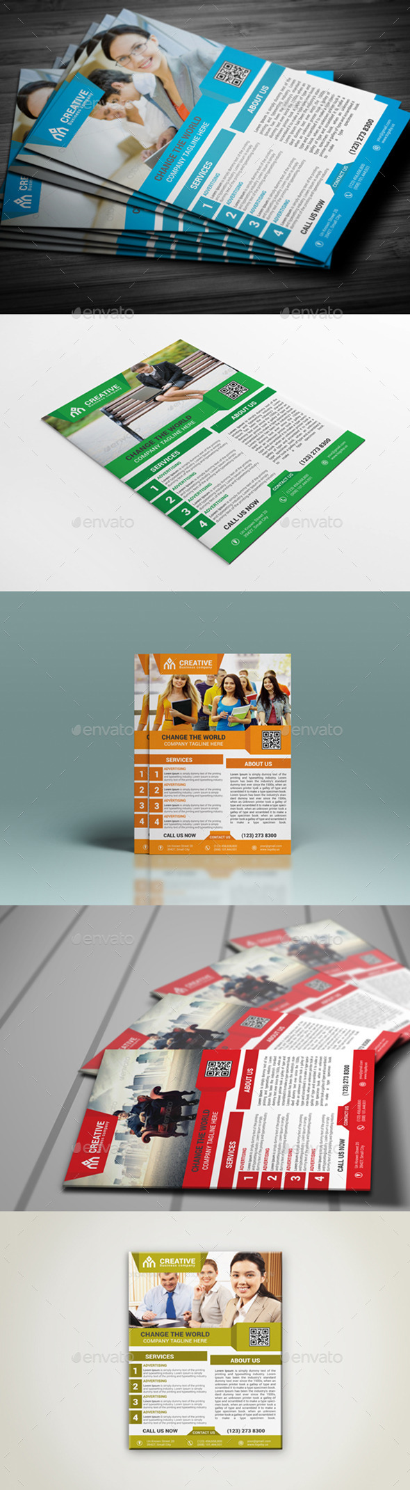 Creative Corporate Flyer Template - Flyers Print Templates
