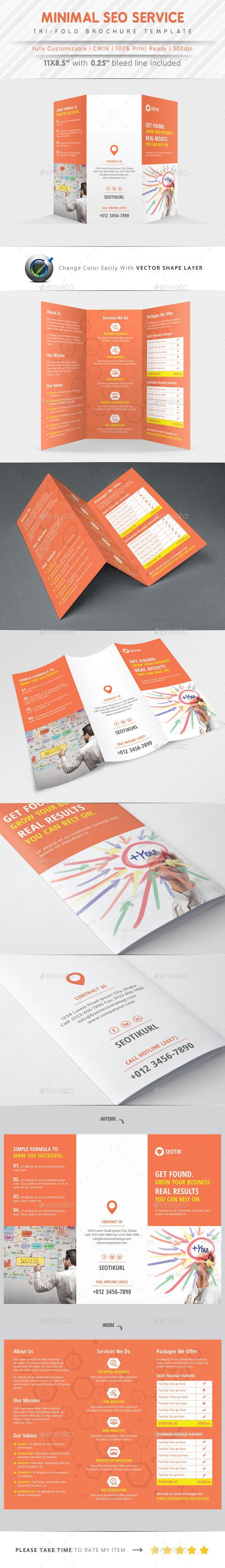 SEO Service Tri Fold - Corporate Brochures