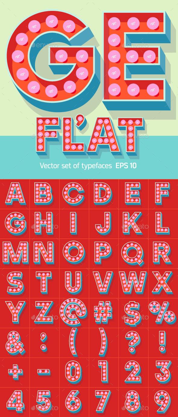 Lamp Alphabet - Decorative Symbols Decorative