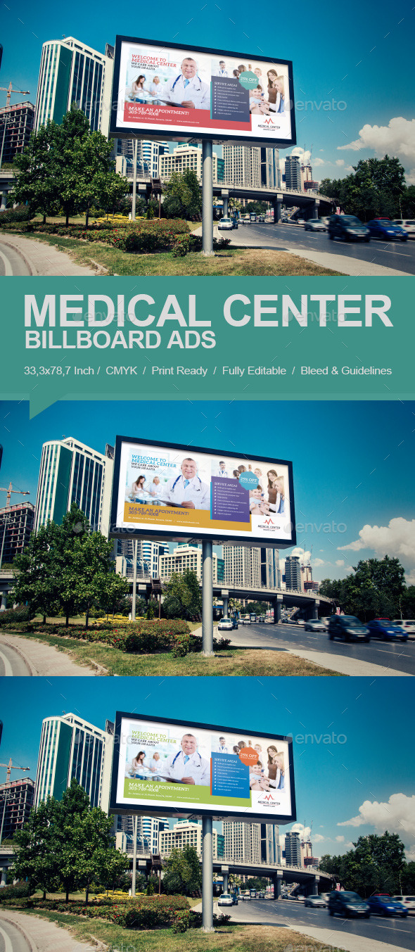 Medical Center Billboard - Signage Print Templates