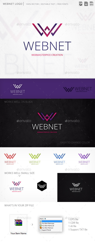 Webnet Letter W Logo Template - Letters Logo Templates