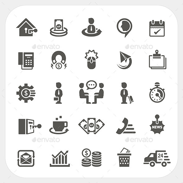 Business and Finance Icons Set - Business Conceptual