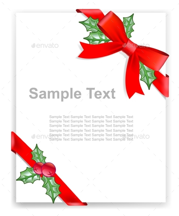 Greeting Card or the Certificate - Christmas Seasons/Holidays