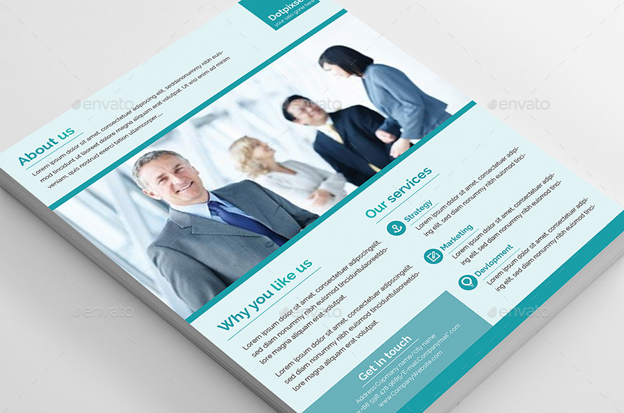 simple corporate flyer design cyan colorjpg_02jpg