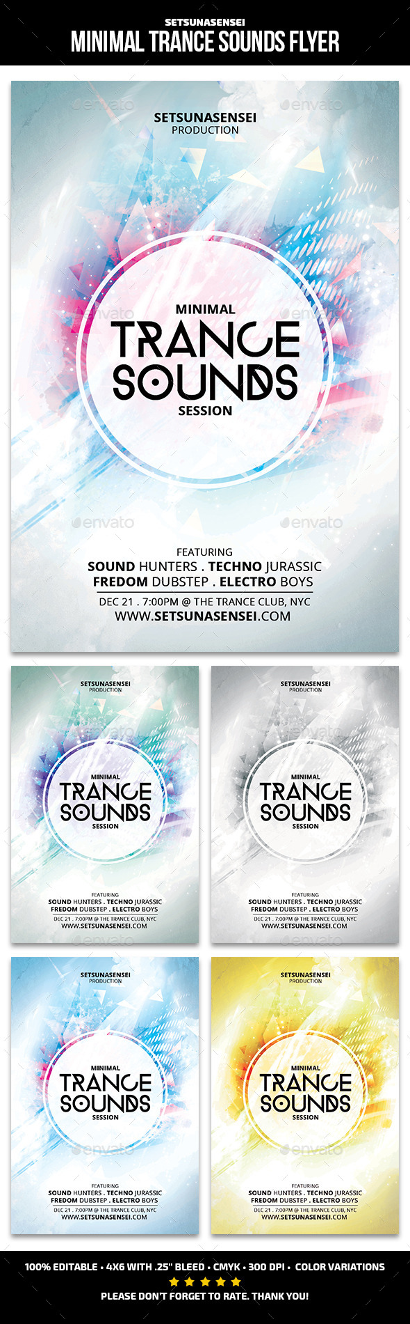 Minimal Trance Sounds Flyer - Clubs & Parties Events