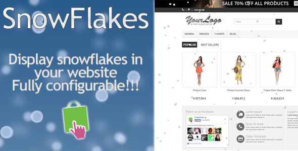 SnowFlakes Prestashop - CodeCanyon Item for Sale