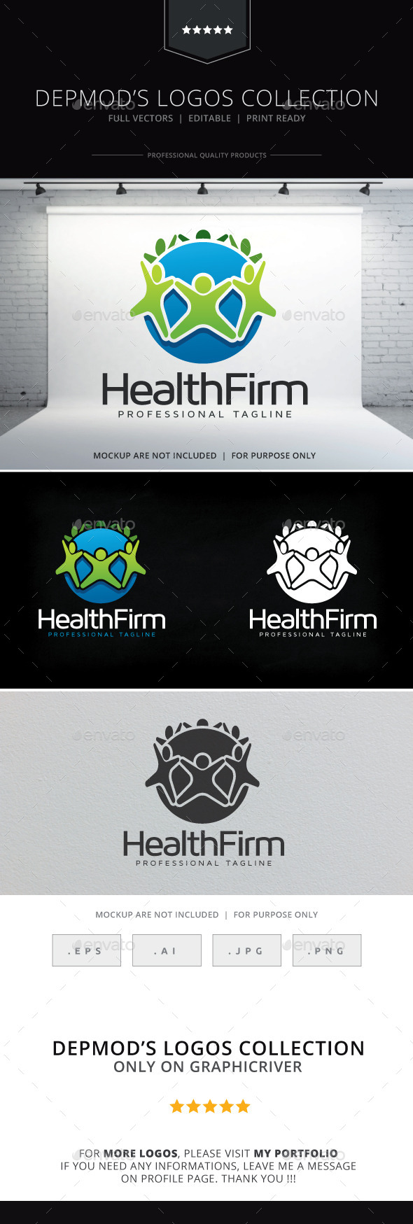 Health Firm Logo - Humans Logo Templates