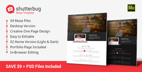Shutterbug Muse Template - Creative Muse Templates