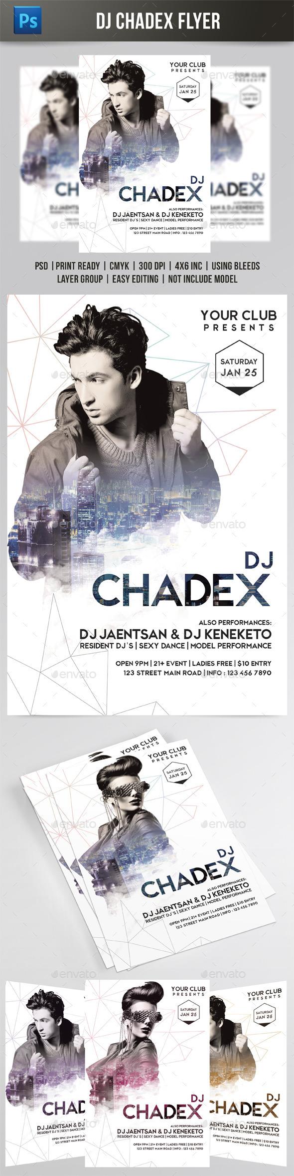 DJ Chadex Flyer  - Events Flyers