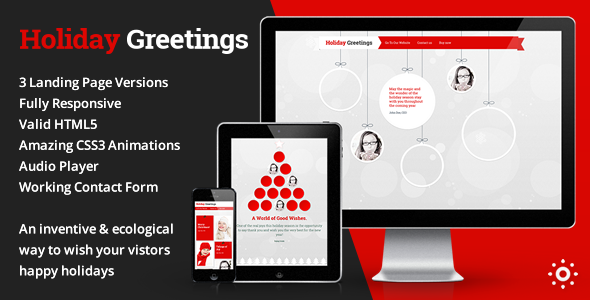 Holiday Greetings – Landing Page Greeting Card