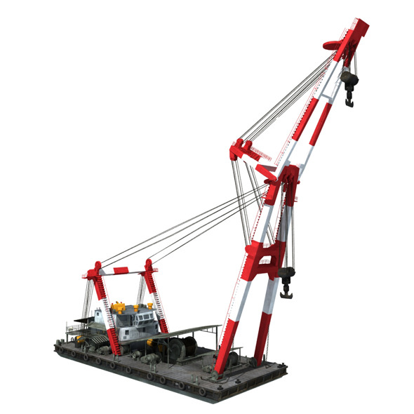 floating crane - 3DOcean Item for Sale