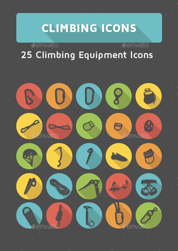 Climbing Icons Set - Miscellaneous Icons