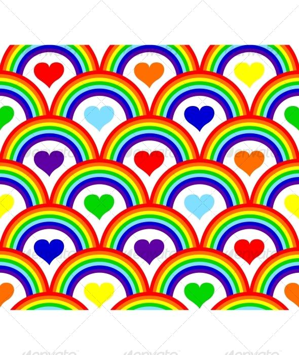 Seamless rainbow pattern - Patterns Decorative