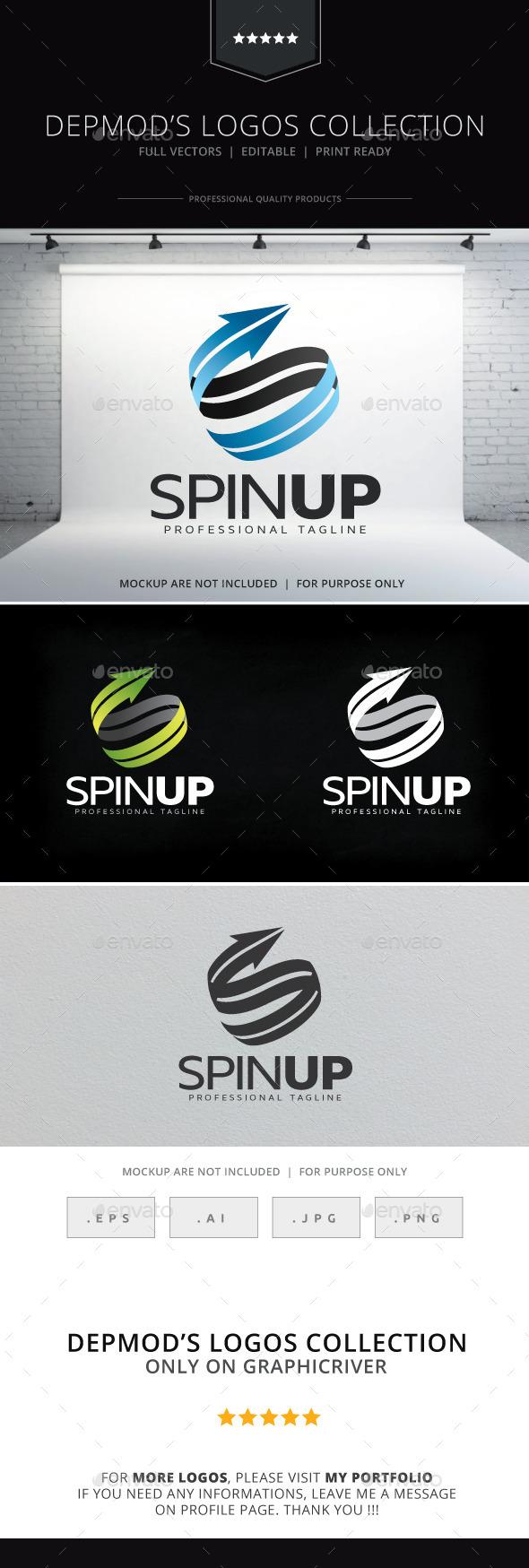 Spin Up Logo - Abstract Logo Templates