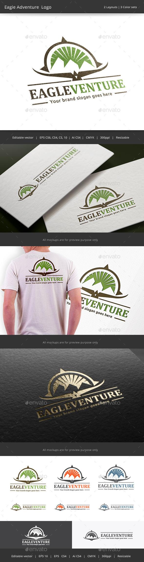 Eagle Adventure Logo - Vector Abstract
