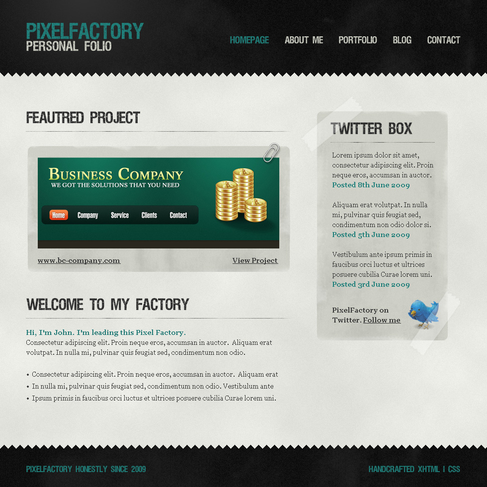 Free Download Pixel Factory - A grungy, paper look template Nulled Latest Version