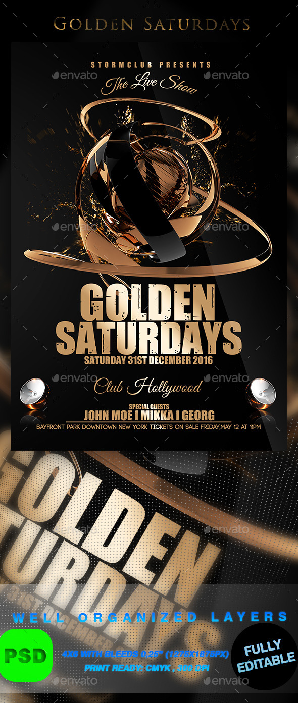 Golden Saturdays - Events Flyers