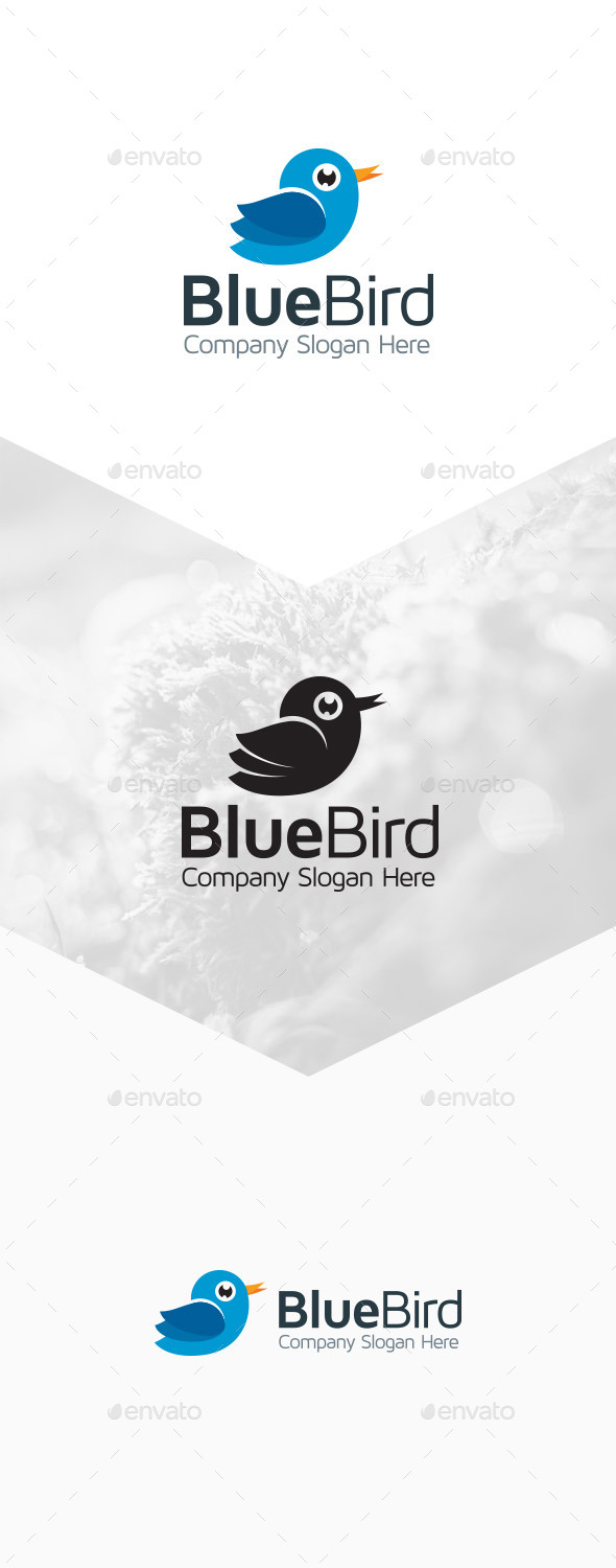 Blue Bird Logo - Animals Logo Templates