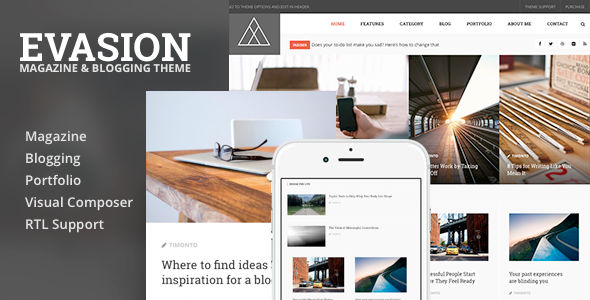Evasion – Magazine & Blogging WordPress Theme