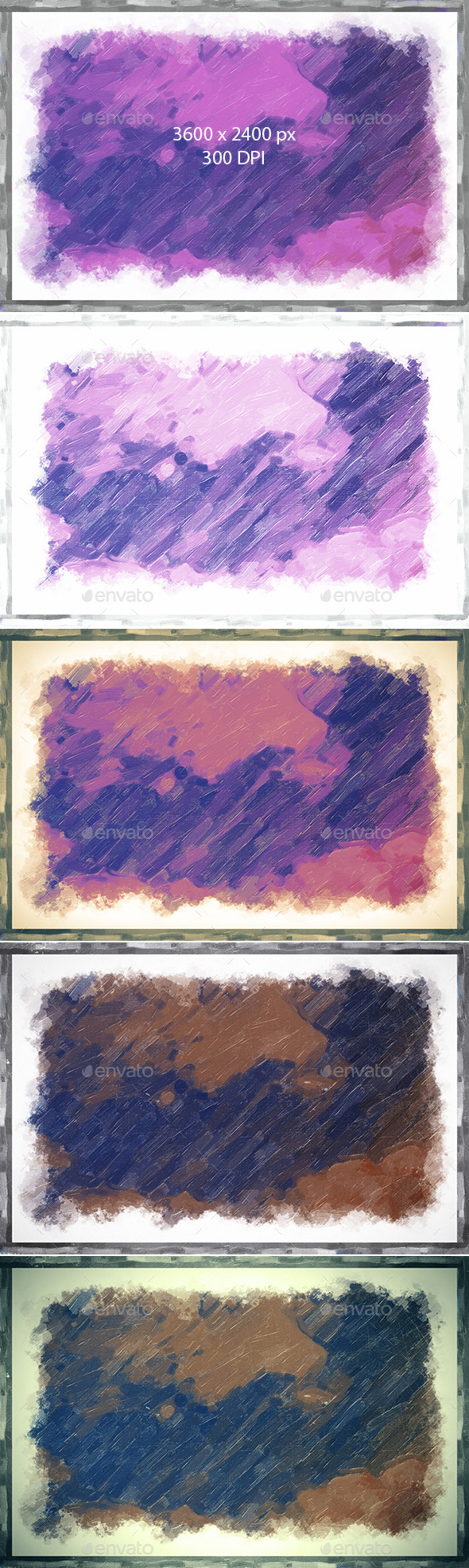 Oil Painting Frame Backgrounds  - Abstract Backgrounds