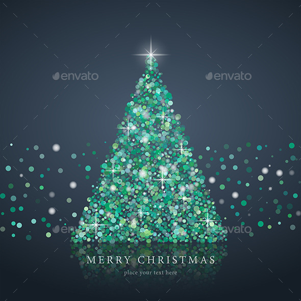 Christmas Tree From Light Background - Christmas Seasons/Holidays