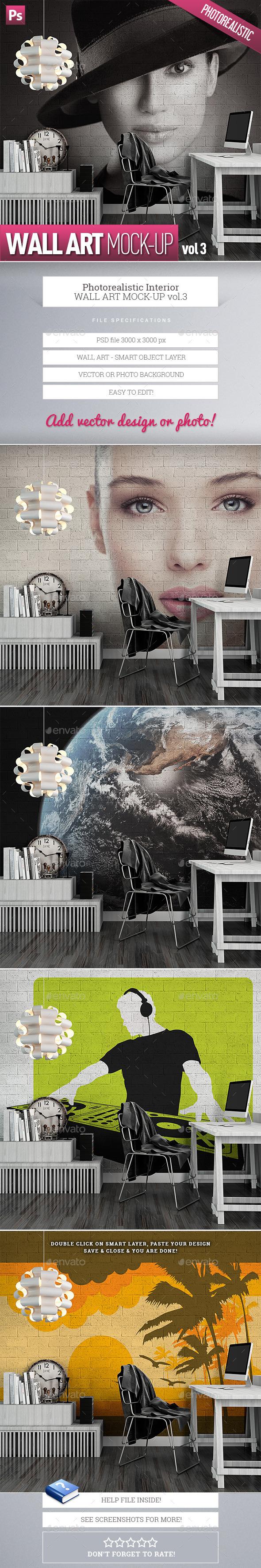 Wall Art Mock-Up vol.3 - Product Mock-Ups Graphics