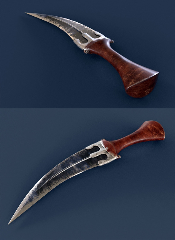 Realistic Jambiya Knife - 3DOcean Item for Sale