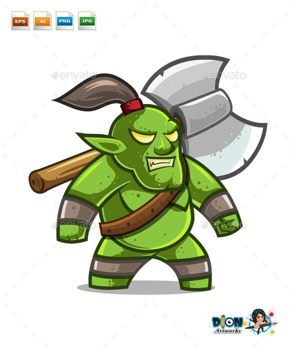 Orc Warrior - Characters Vectors