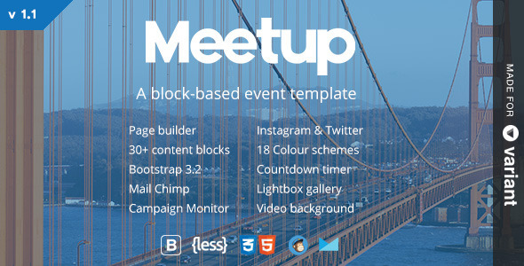 Meetup | Conference & Event Landing Page With Page Builder - Events Entertainment