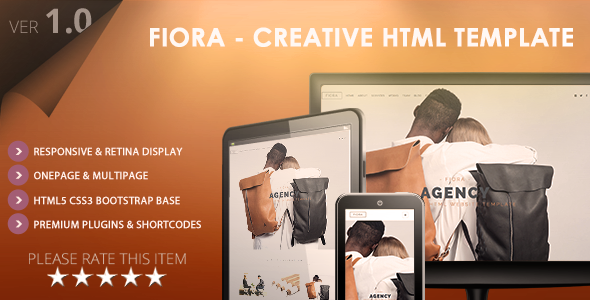 Fiora – Multipage & Onepage HTML5 Website Template