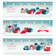Three Christmas Banners with Presents - GraphicRiver Item for Sale
