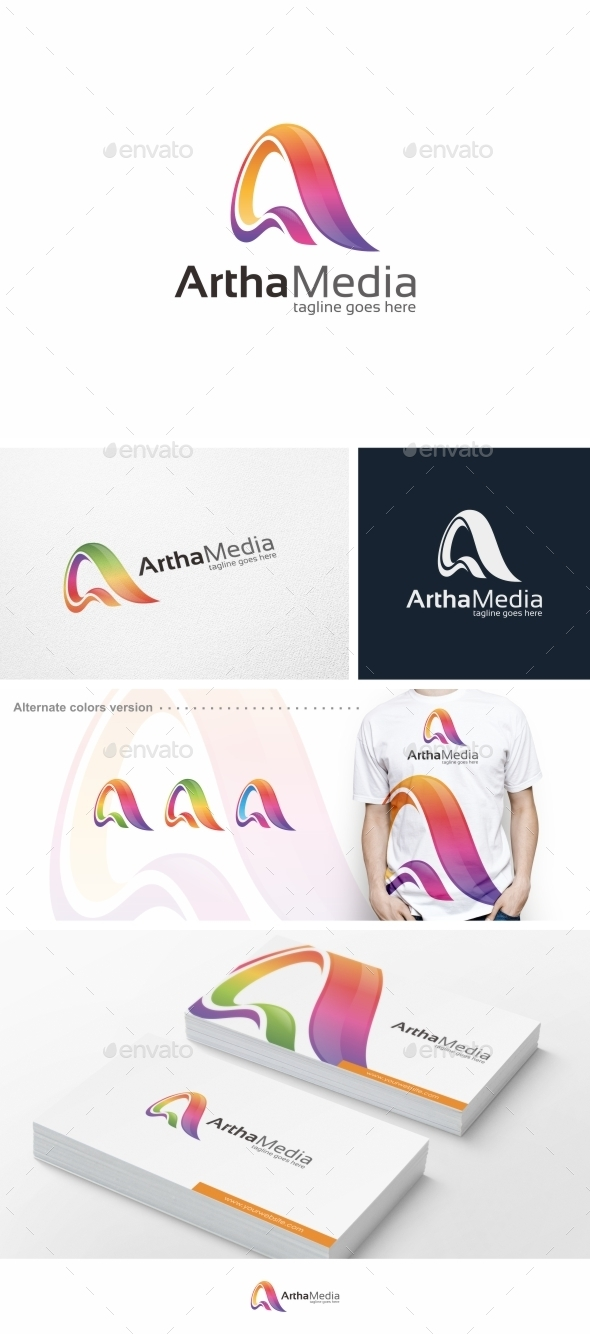 Abstract Colorful Letter A - Logo Template - Letters Logo Templates