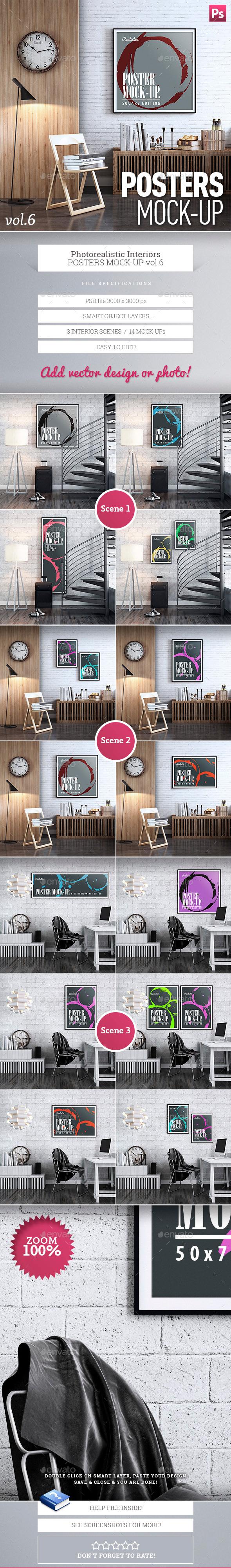 Posters Mock-Up vol.6 - Product Mock-Ups Graphics