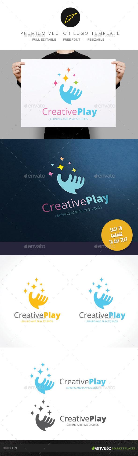 Creative Play - Humans Logo Templates