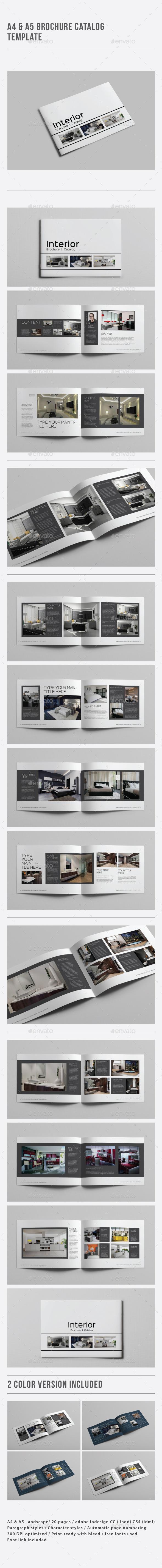 A4 & A5 Brochure / Catalog Template - Catalogs Brochures