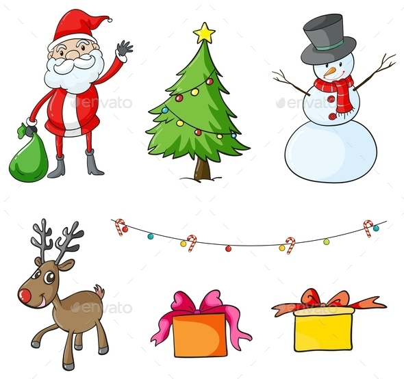 Different Christmas Symbols - Christmas Seasons/Holidays
