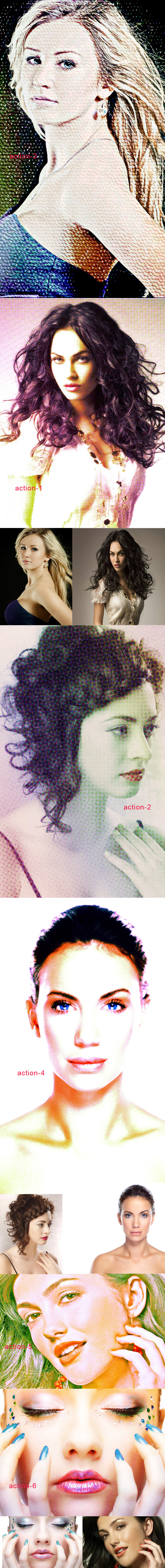 Color Halftone Action - Photo Effects Actions