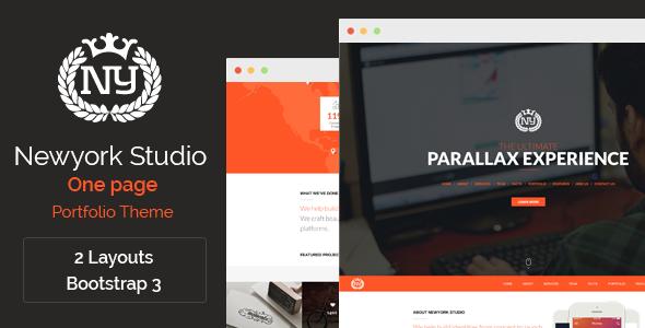 Newyork Studio - One Page Parallax Theme - Portfolio Creative