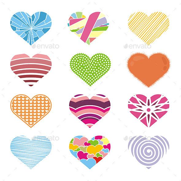 Colorful Hearts - Valentines Seasons/Holidays
