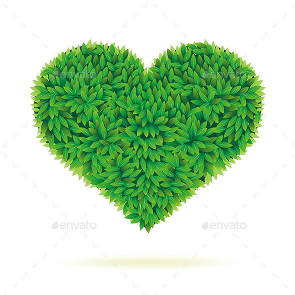 Heart with Leaves - Valentines Seasons/Holidays