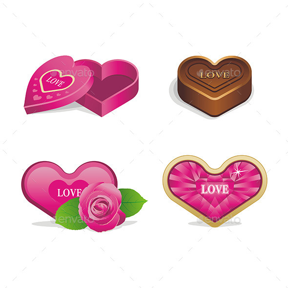 Love Icons Set - Valentines Seasons/Holidays
