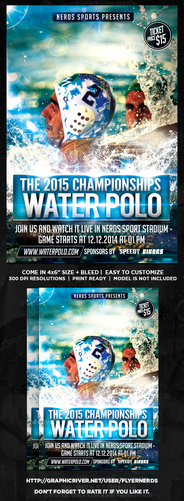 Water Polo Championships Sports Flyer - Sports Events