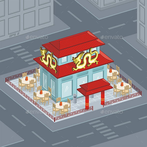 Chinese Restaurant - Buildings Objects