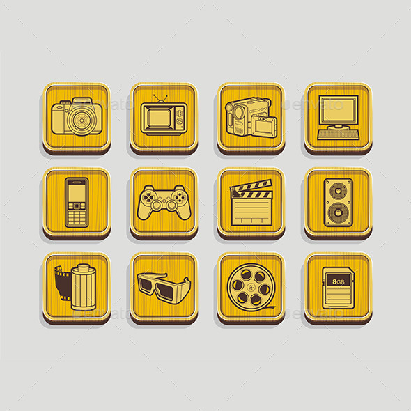 Photo and Video Icons - Media Technology