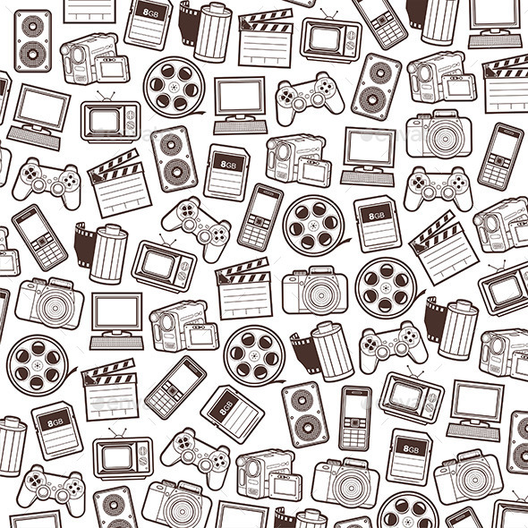 Web Icons Pattern - Media Technology