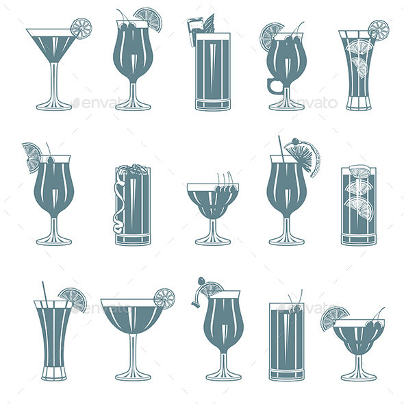 Cocktail Set - Objects Vectors