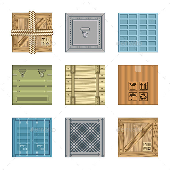 Collection Boxes - Buildings Objects
