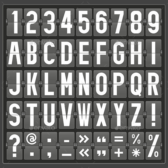 Alphabet Mechanical Panel - Vectors