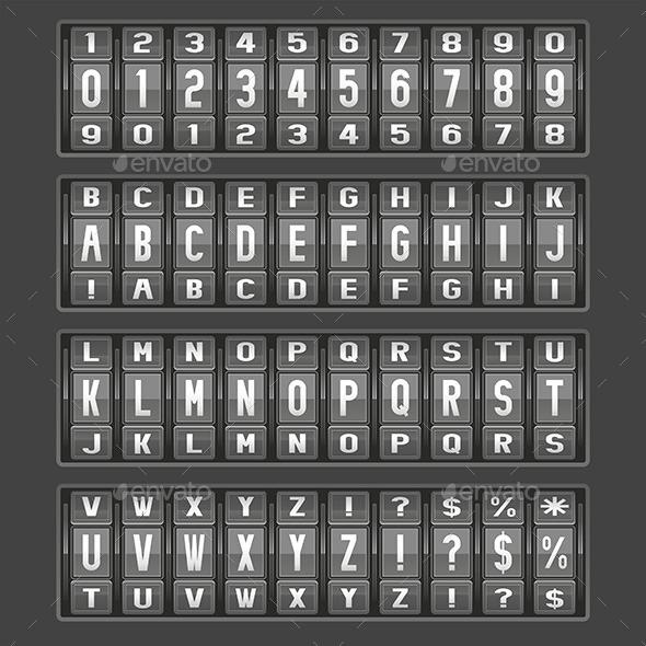 Alphabet Mechanical Panel - Vectors