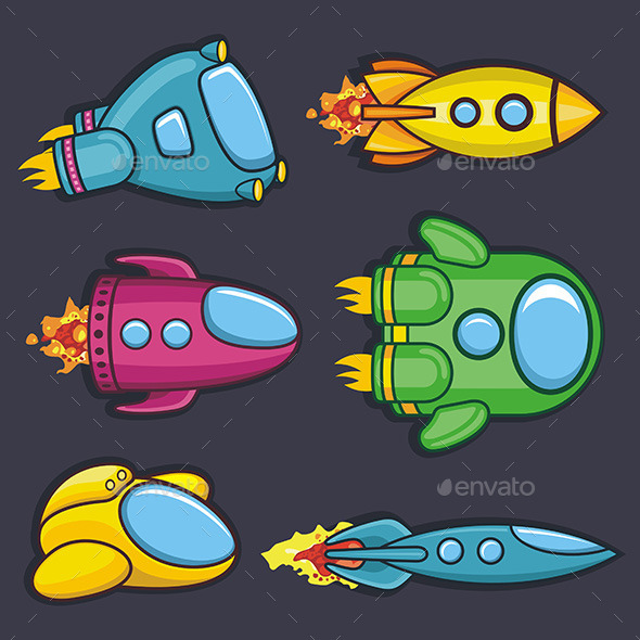 Spacecraft - Objects Vectors